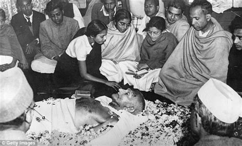 gandhi born place hindu party lay first stone for temple honouring godse