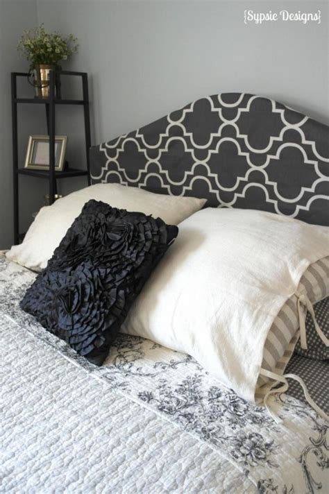 covered headboard ideas remodelaholic easy no sew headboard slipcover tutorial