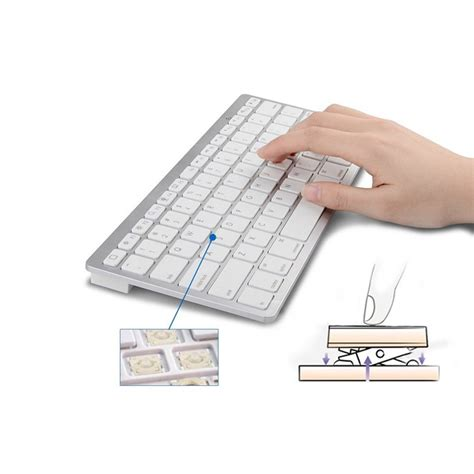 Keyboard Bluetooth Android Ios Pc Ultra Slim Murah ultra slim bluetooth keyboard ios android pc black jakartanotebook
