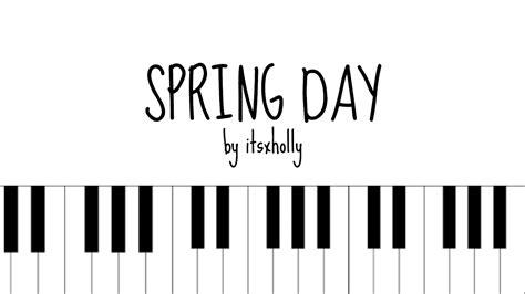 bts spring day mp3 spring day bts piano tutorial chords chordify