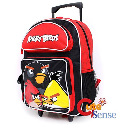 Backpack Trolly Angry Bird angry birds school roller backpack 16 quot rolling bag