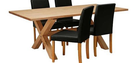 hudson solid wood dining table and 4 black chairs review