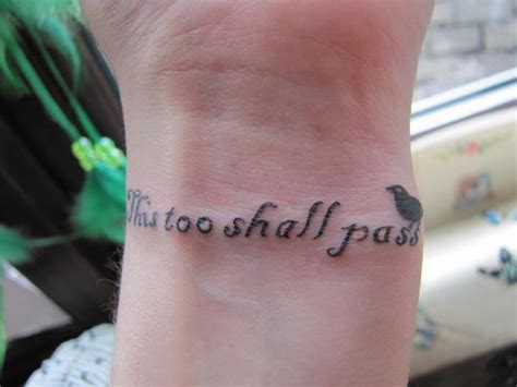 this too shall pass tattoo on wrist 20 this shall pass ideas hative