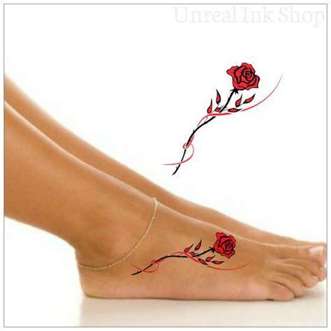 fake rose tattoos tatouages pied 1 tatouage temporaire par