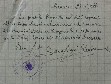 lettere partigiani la liberazione di grosseto toscananovecento