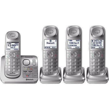 4 phone system panasonic 4 handset link2cell cordless phone system walmart