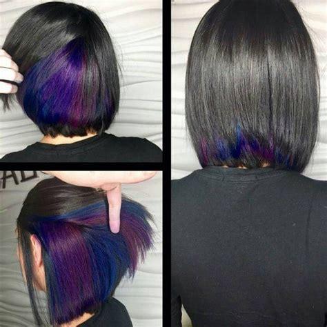 shag haircut brown hair with lavender grey streaks 25 best ideas about peekaboo highlights on pinterest