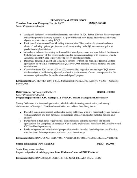Sql Developer Resume by Resume Sql Server Developer