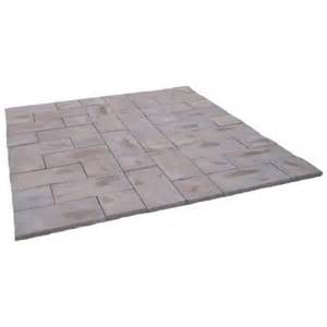 home depot pavers 72 sq ft concrete rundle brown paver kit runb