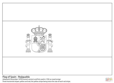 Flag Of Spain Coloring Page Free Printable Coloring Pages Spain Flag Template