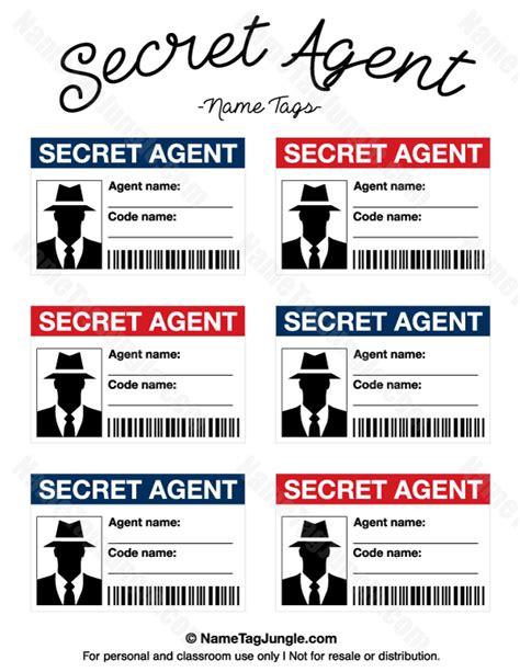 secret template free printable secret name tags these would be