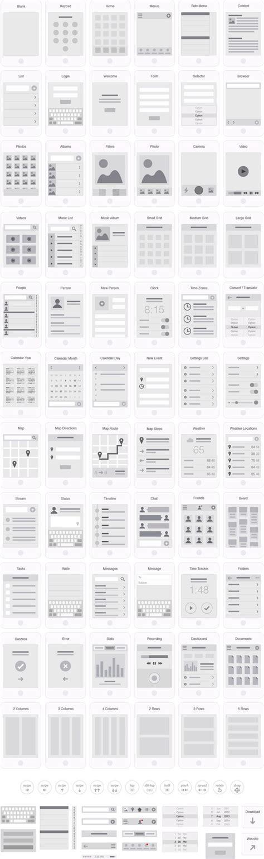 Mobile App Visual Flowchart Illustrator Template Ux Kits Ux Webdesign Design Pinterest Adobe Illustrator Flowchart Template
