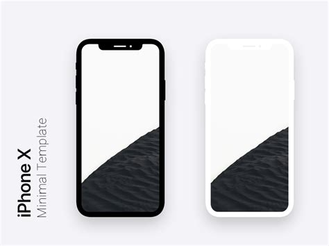 iphone templates for photoshop iphone x minimal dark light template for photoshop