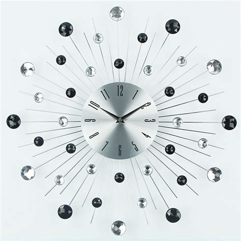 wall clock art luxury design large metal art wall clock duvar saati