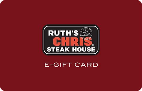 Ruths Chris Gift Card - ruth s chris gift card