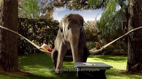 spiriva commercial elephant actress spiriva tv commercial for copd with elephant ispot tv