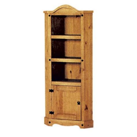 Pine Corner Bookcase Book Cases H I T Cabin Bed With Cupboard Bookcase Desk