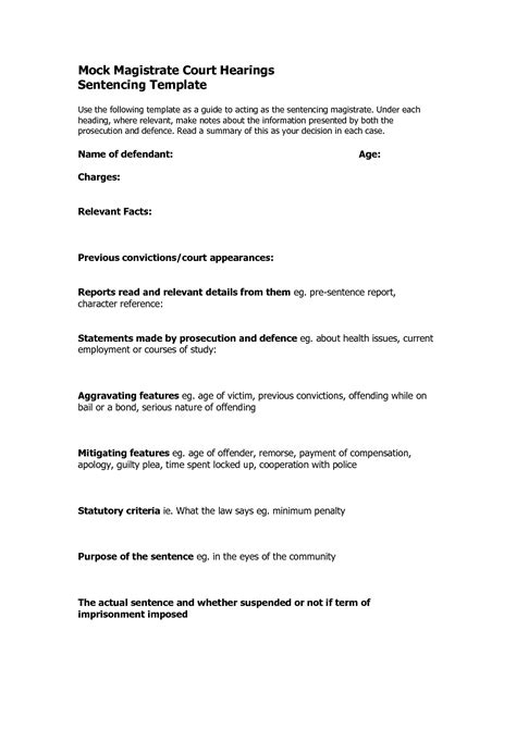 Character Letter For Court Template