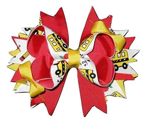 444 Yy Back Ribbon Top new quot school pencil quot back to school hairbow alligator clip ribbon bow boutique