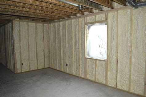 basement spray foam stonemill construction custom homes