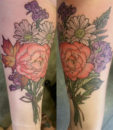 rose bouquet tattoo floral bouquet by kendall at shop