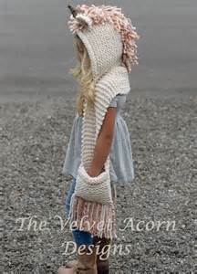 Baby knitting patterns knitting pattern the unice unicorn hooded scarf by thevelvet