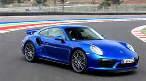 Blue Porsche 2016 Porsche 911 Turbo Sapphire Blue Metallic