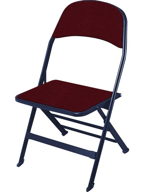 Folding Chairs 4 Less by 2000 Series Fabric Upholstered Seat And Back Folding Chair
