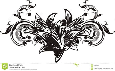 vector ornament flowers stock images image 6086864