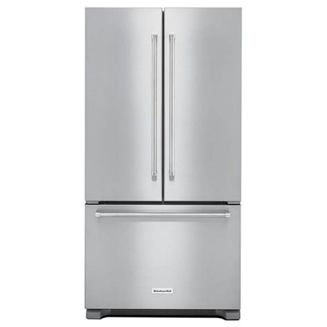 refrigerator counter depth door krfc302ess kitchenaid 36 quot 22 cu ft counter depth door refrigerator with interior