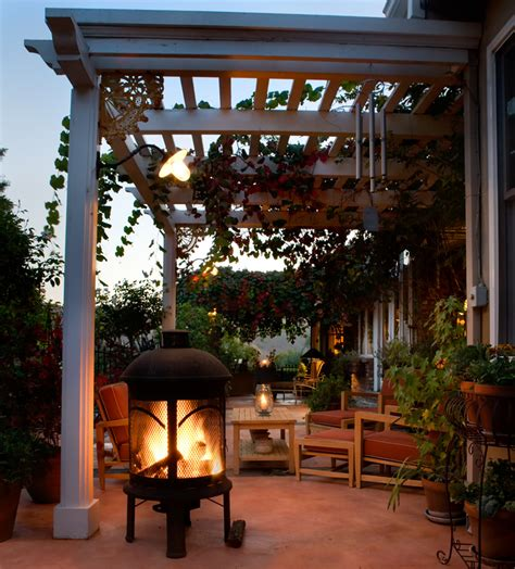 Chiminea On Patio 30 Outdoor Fireplace Ideas With Pictures Designing Idea