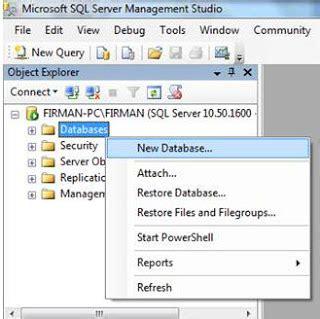 membuat nomor urut pada query sql tutorial membuat database menggunakan mysql server 2008