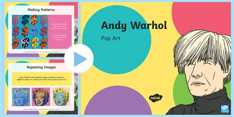 Andy Warhol Pop Art Powerpoint Pop Art Andy Warhol Art Print Screening Pop Powerpoint Template
