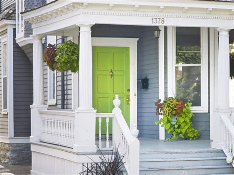 lime green door hanging and standing plants the coconut fiber lined