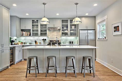 gray cabinets kitchen ideas also charming with walls