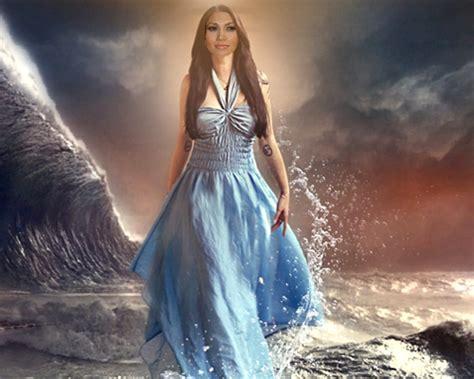 fotomontaje con vestidos de noche fotomontaje hermoso para mujeres un vestido largo azul en