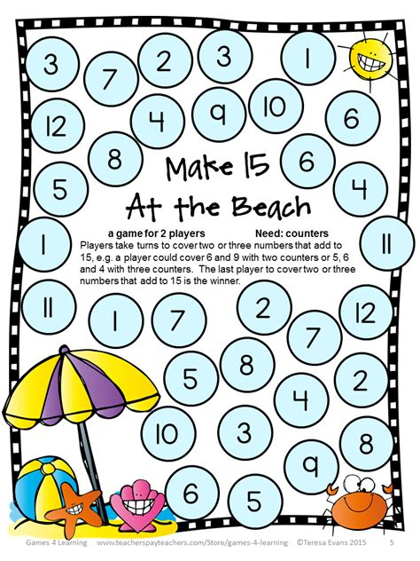 printable board games for addition this game has players find combinations of 2 or 3 numbers