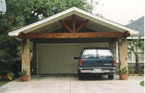 Carport In Front Of Garage carport with flagstone columns flickr photo