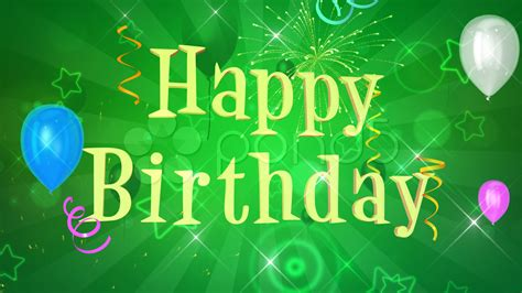 happy green color happy birthday background video clip 761752 pond5
