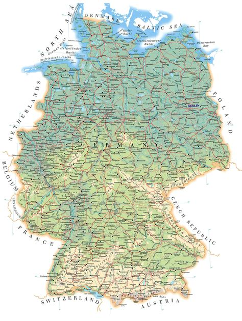 map of germa maps of germany detailed map of germany in