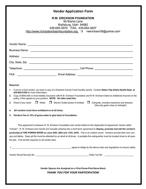 Vendor Form Template Professional Athlete Contract Free For Sop Format Of Application Wiring Vendor Form Template