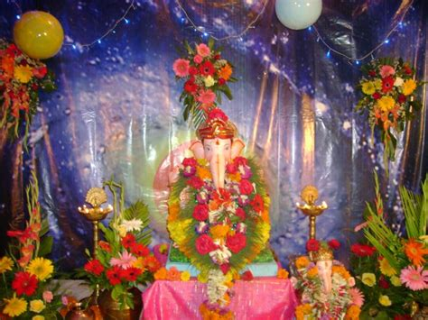 ganpati home decoration ganpati decoration photos god wallpapers