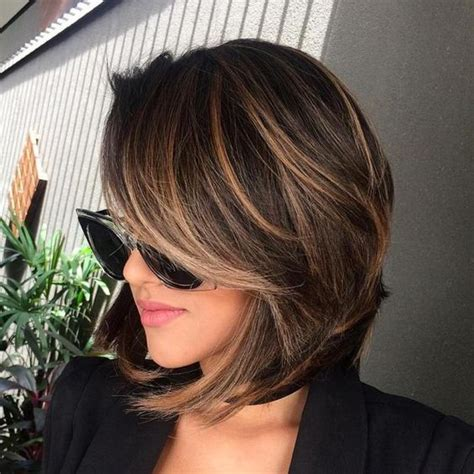 balayage and bangs 28 most chic dark hair ideas to try styleoholic