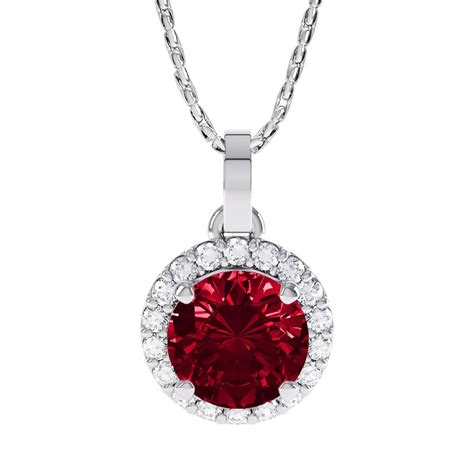 Ruby 16 1ct eternity 1ct ruby and white sapphire 18ct gold halo