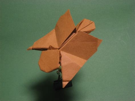 Make Origami Flying - origami flying squirrel by h on deviantart