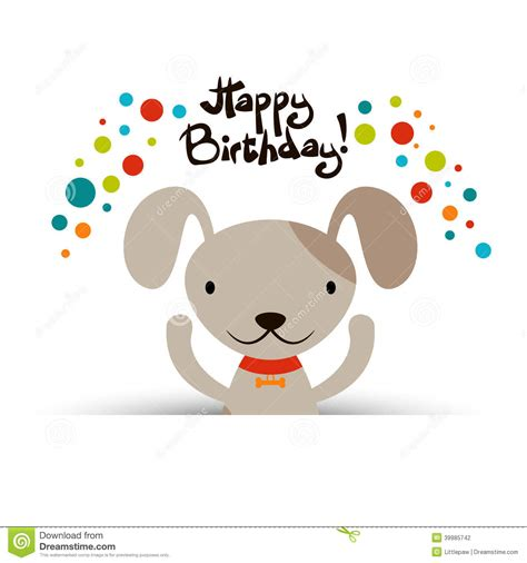 birthday card template with puppies birthday card with stock vector image 39985742