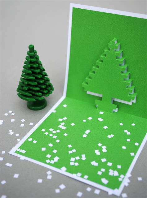 tree pop up card templates pixel popup cards minieco