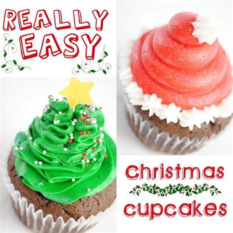 easy christmas cupcakes santa hats and christmas trees something swanky