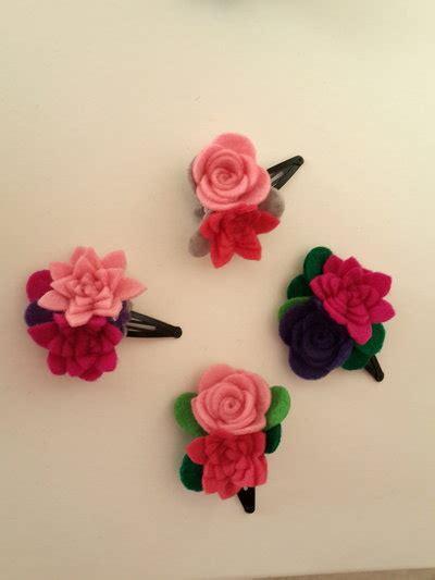 fiori di feltro vendita fermagli a fiore di feltro fatti a mano donna