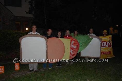 human sandwich and chips costume
